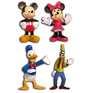 4 Disney Figurines Mickey Mouse and Friends Sold As a Set