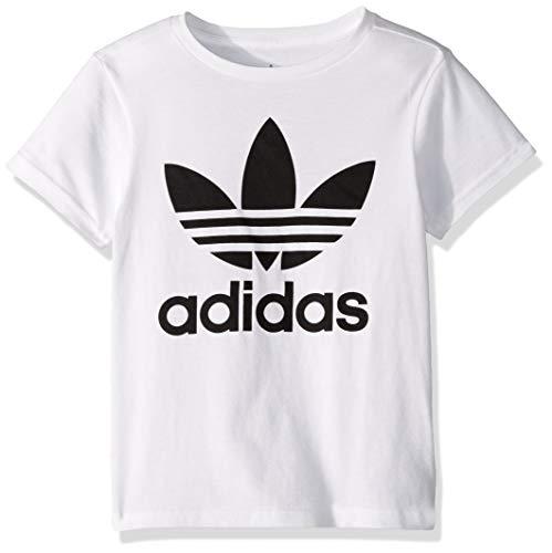 adidas Originals Boys' Big Trefoil Tee, White/Black, Large
