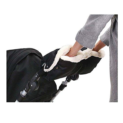 For Sale! IntiPal Fleece Stroller Hand Muff Anti-freeze Waterproof Gloves Warmer Winter Gift (Black)