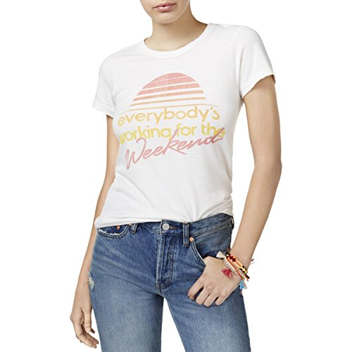 Junk Food Womens Short Sleeves Crew Neck Graphic T-Shirt White M