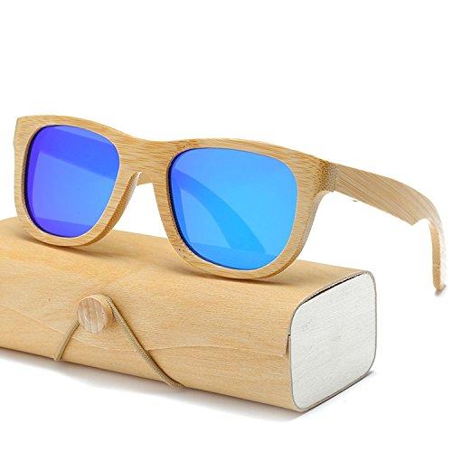 (Wood Sunglasses Men women square bamboo Mirror retro de sol masculino Handmade with case,1501KP C25)