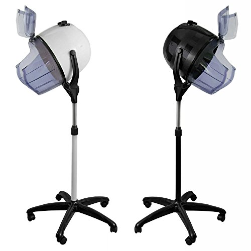 Swivel Caster High Temperature Wheel - Salon Sundry Professional Bonnet Style Hood 1,000 Watt Salon Hair Dryer - Black
