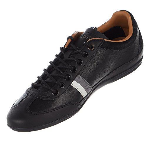 Lacoste Mens Misano 118 1 U Tennisschoen Zwart / Donkergrijs