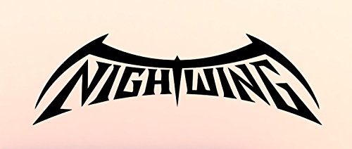 DC COMICS BATMAN SERIES NIGHTWING WORDS LOGO VINYL STICKERS