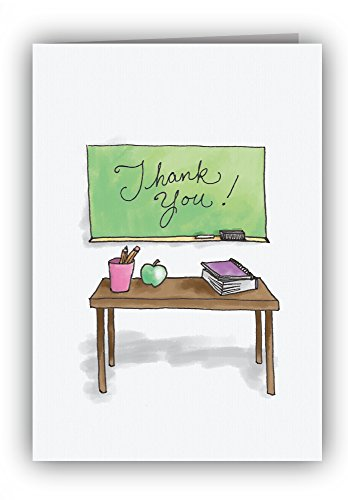 (Teacher's Desk Thank You Cards - 24 Cards & Envelopes)