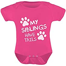 Tstars My Siblings Have Tails Funny One-Piece Infant Baby Bodysuit
