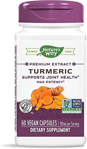 Turmeric Supports Joint Health 750 MG 60 Vegan Capsules