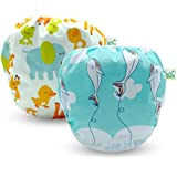 Cos2be Reusable Baby Swim Diapers- Adjustable & Stylish Fit Diaper Cover Sizes 10-40lbs Boys & Girls - Washable Swimming Diaper for Baby Shower Gifts & Swimming Lessons for Babies 0-3years(2 Pack)