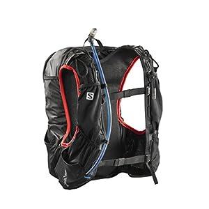 Salomon Skin Pro 15 Set Backpack, Black/Bright Red