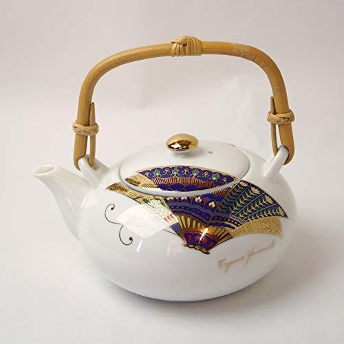 Okura Ceramics Japanese Ceramic Kyusu Teapot Dobin 550ml - Kinsai Butterfly 6097554S1