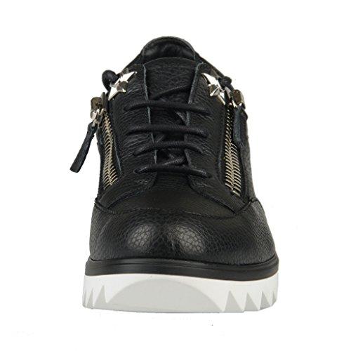 Giuseppe Zanotti Homme Sneakers Moda In Pelle Nero