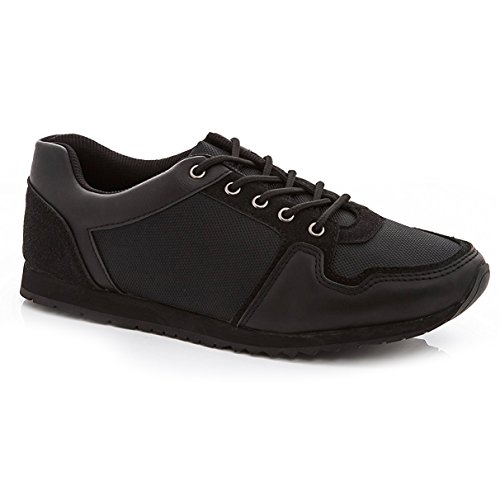 Franco Vanucci Mens 9994 Lace Up Sneakers Black Black Size 11 by Franco Vanucci