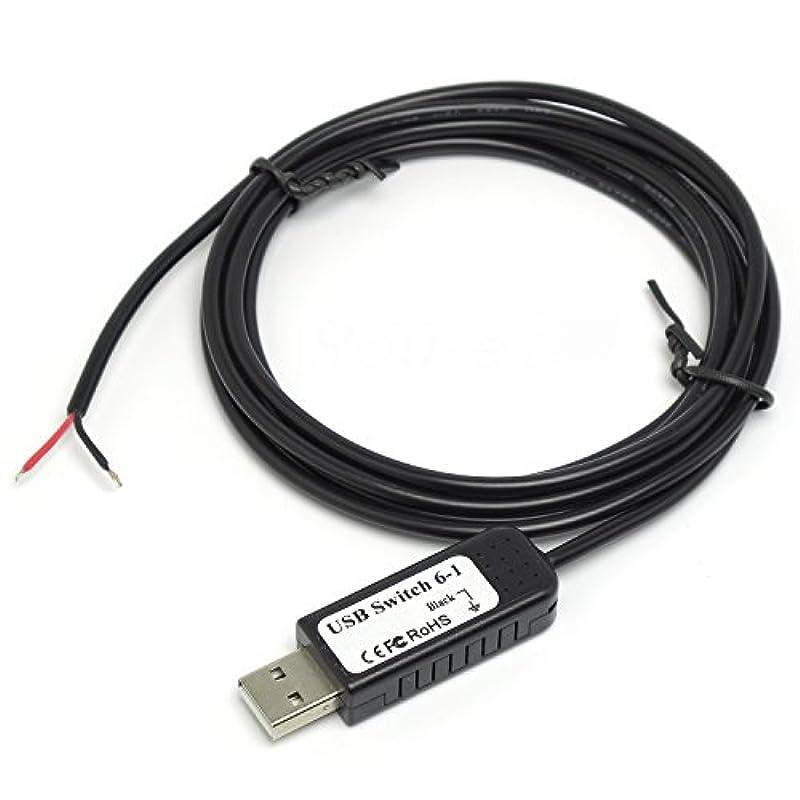 루트 R 다기능 자작 입력장치용 USB 스위치 케이블 RI-SWCB6