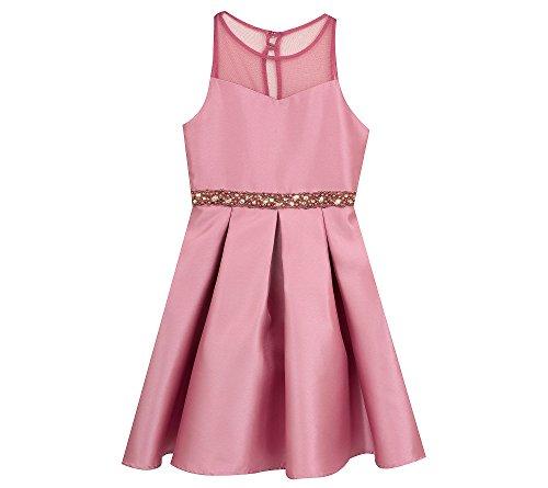 Rare Editions Girls' 7-16 Sleeveless Dress with Jeweled Belt 12