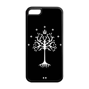 5C Phone Cases, Tree of Gondor Hard TPU Rubber Cover Case for iPhone 5C