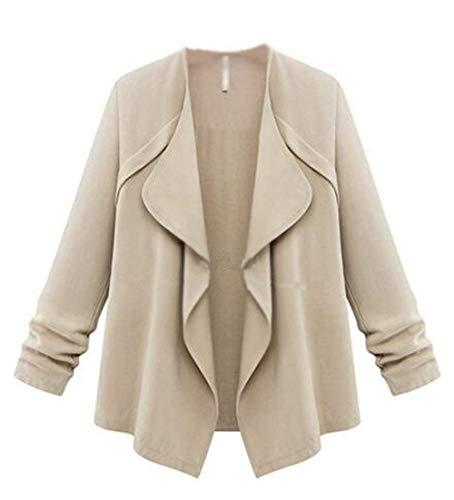 Longues Casual Jeune Unie Vetement Bouffant Basic Kaki Manches Automne  Revers Mode HX Femme Élégant Couleur ... b37a0656c2af