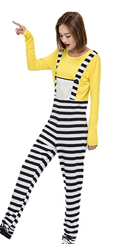 Mumentfienlis Womens Halloween Costume Jumpsuit Costume Size M Black&Yellow