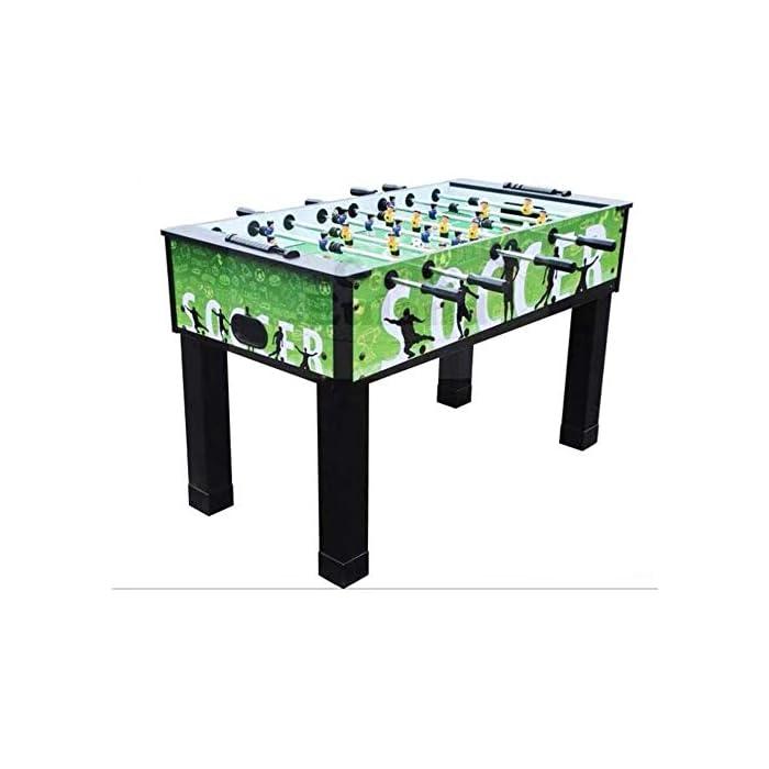 412iTl3p9eL ★ : restaura campos de fútbol reales, como 22 jugadores bien hechos y el parque verde. Además, el dispositivo de puntuación manual en cada lado le permite registrar la puntuación del juego, haciendo que el partido de futbolín sea más emocionante. El futbolín de mesa puede aumentar su capacidad de coordinación y equilibrio. ★ : la mesa de futbolín hecha de MDF y metal, que es duradera y estable. Las cuatro patas son lo suficientemente grandes y nunca se tambalean, el tamaño de la competencia es adecuado tanto para la recreación en interiores de niños como para adultos, y la sala de juegos, sala de juegos. ★ : cada jugador está hecho a mano con material ABS respetuoso con el medio ambiente, y la tubería de acero es más gruesa que otras, puede usarla durante largos años, es un regalo de cumpleaños ideal o un regalo de Navidad para niños.