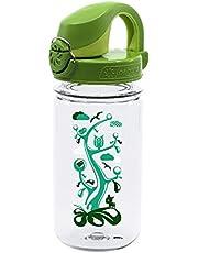 Nalgene 341883 Kids OTF with Green Cap Water Bottle (Clear Woodland),12 oz.