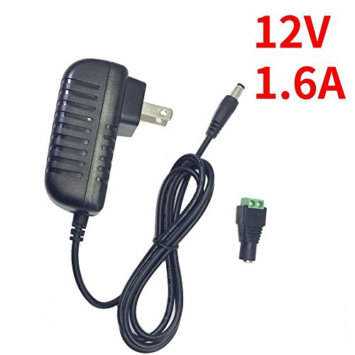Price comparison product image inShareplus 12V AC DC Power Supply 1.6A 19.2W,  Wall Mounted Switch Power Supply,  120 Volt to 12 Volt Adapter for LED Strip Light with 5.5 / 2.1 DC Female Barrel Connector