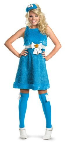 Cookie Monster Sassy Costume (4-6) ()