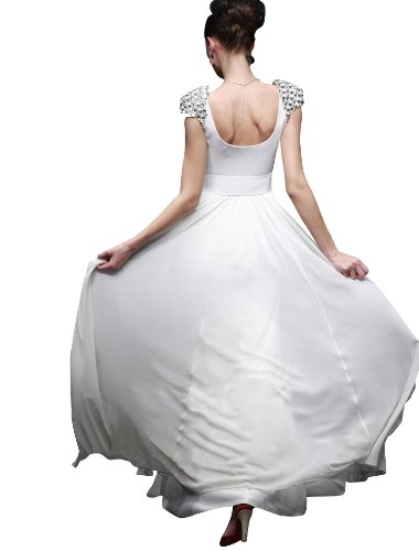 Passat Women's Peach Colored Wedding Dresses Size US2 Color White