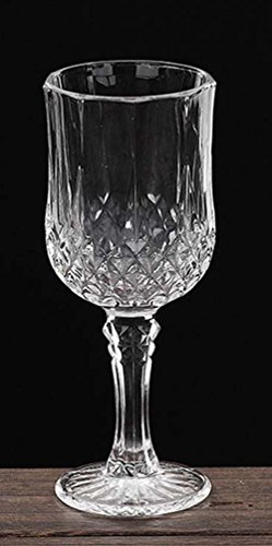 XHWine Crystal Wine Goblet Diamond Facets Decor Red Wine Glass 150mL