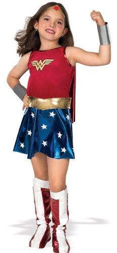 [Super DC Heroes Wonder Woman Child's Costume, Medium] (Womens Costumes)