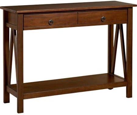 Linon Titian 31 Console Table Antique Tobacco