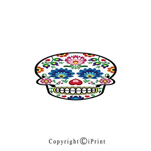 (Sugar Skull Decor Large Premium Quick Dry Cotton & Microfiber Bath Towel,Polish Folk Art Style Mexican Sugar Skull Design Ethnic Carnival Theme Decorative,for Travel Sports & Beach,W55.1 x L27.5 Mult)