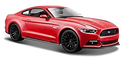 Buy 2015 Ford Mustang Gt 5 0 Red 1 24 Scale Car Model By Maisto