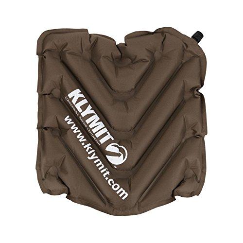 Klymit V Seat, Dark Brown - Inflatable Travel Seat Cushion