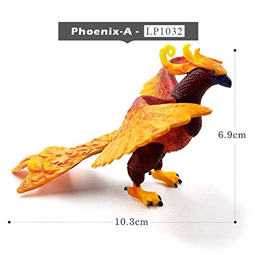 (Clematis New Bird Phoenix Archaeopteryx Dinosaur Simulation Plastic Animal Model One Piece Action Figure Hot Toys Gift for Kids -Complete Series Merchandise)