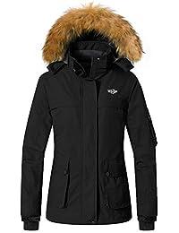 Wantdo Women's Winter Ski Jackets Hooded Waterproof Windproof Outdoor Sports Parka