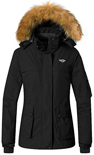 Wantdo Women's Warm Parka Mountain Ski Fleece Jacket Waterproof Windproof Winter Rain Coat Outdoors Anorak – Sports Center Store