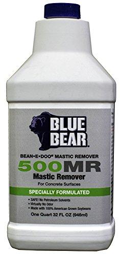 BLUE BEAR 500MR Mastic Remover For Concrete Quart (Blue Concrete)