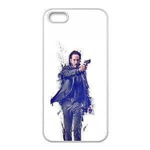 Hc87 John Wick Movie Poster Art Actor iPhone 4 Caja del teléfono celular 4S funda blanca del teléfono celular Funda Cubierta EEECBCAAJ76837