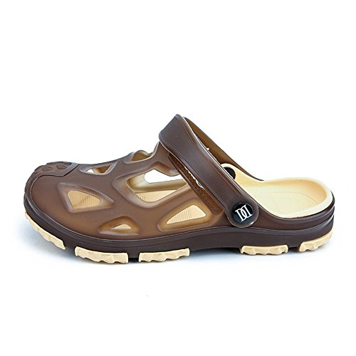 2018 Tacco piatto uomo Vamp Hollow Slip spiaggia Mens On Ciabatte shoes Trend Outdoor da da Sandali rCXwrAq