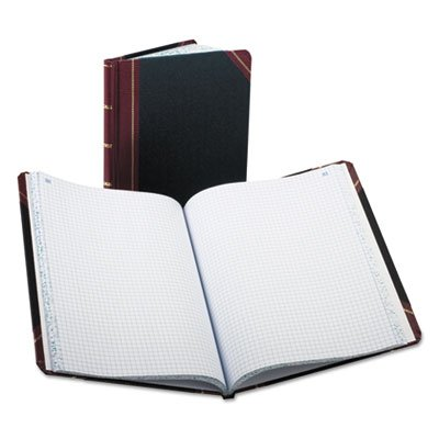 Quadrille Accounting Book, Black, 300 Pages, 8 1/8 x 10 3/8, Sold as 2 Each