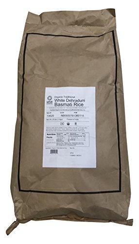 Gluten Basmati Free Rice - Lotus Foods Gourmet Organic White Basmati Rice, 25 Pound