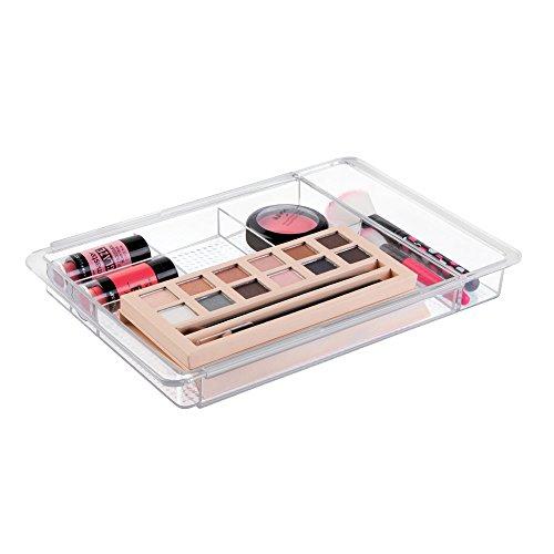 Makeup organizer tray for drawer