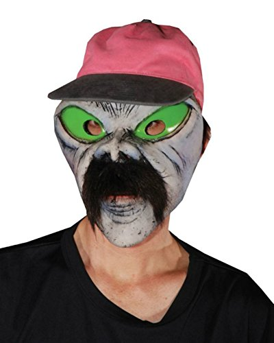 Illegal Alien Funny Cosplay Fancy Party Adult Halloween Costume Mask]()