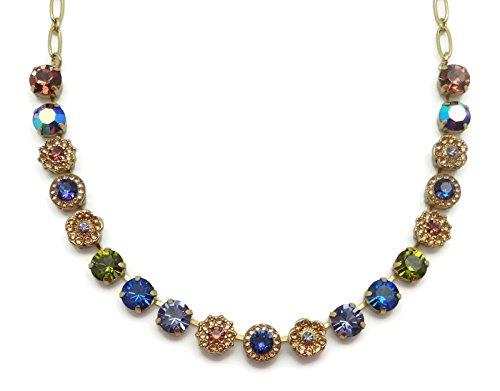 Mariana English Gold Plated Swarovski Crystal Necklace Multi Color Mosaic 1089 Odyssey Penelope