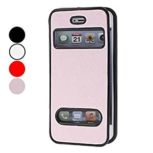 Buy Litchi Pattern Clamshell Design TPU Full Body Case for iPhone 5 (Assorted Colors) , Red