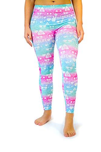 emoji Girls Face Poop colorful Legging Tights- Ombre Spandex Yoga Print Pants (4-6)]()