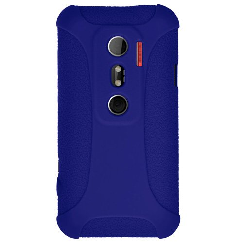 (Amzer Silicone Skin Jelly Case for HTC EVO 3D - Blue - 1 Pack - Case)