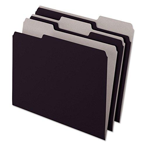 (Wholesale CASE of 10 - Esselte 1/3 Cut Colored Interior Folders-Interior Folder, 1/3 Tab Cut, Letter, BK)