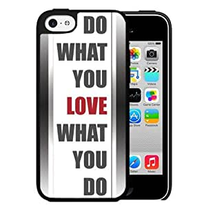 Do What You Love What You Do Quote in White and Gray with Red Hard Snap on Cell Phone Case Cover iPhone 5c