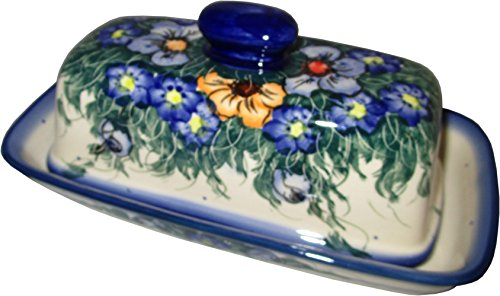 """Polish Pottery Stick Butter Dish - Eva's Collection """"Wild Field"""""""