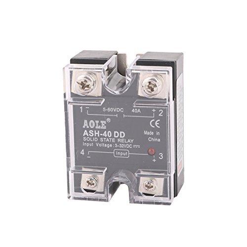 DealMux ASH-40DD 3-32VDC para 5-60VDC 40A Fase nica Rel de Estado Slido DC-DC
